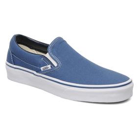 Tenis Vans Clasico Slip On Azul Juvenil Casual Cl