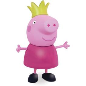Boneco E Personagem Peppa Pig Princesa Vinil 15cm.