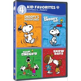 Dvd Coleção 4 Filmes Snoopy Peanuts C/ 4 Discos