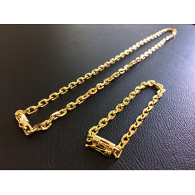 b60e3eeb37df8 Corrente Ouro Cadeado 6mm - Joias e Bijuterias no Mercado Livre Brasil