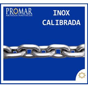 Corrente Calibrada Din 766 Aço Inox 316 De 10mm