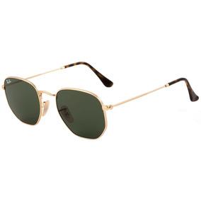 2eb8896f6d71b Óculos De Sol Ray-ban Hexagonal Preto C dourado Feminino Top
