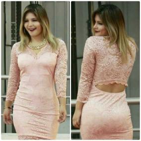 Vestido Fiesta Manga Larga - Vestidos Mujer en Mercado Libre Perú 99c31ee2be63