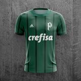 48fa83d5f0 Camiseta Palmeiras 2018 Crefisa Futebol Personalizada C Nome