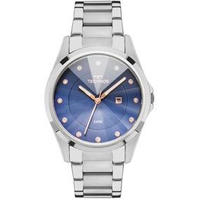 e6d9ab4ea64c5 Relogio Feminino Azul Com Cristais Technos - Relógios De Pulso no ...