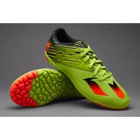 best service 54d63 f9bfe Tenis adidas Messi 15.3 Tutf Multitaco Solar Slime