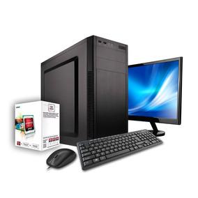 Pc Computadora Completa A4 6300, Ideal Oficina, Con Monitor