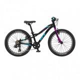 Bicicleta De Niño Gt Stomper Ace Negro Morado Aro 20 Bamo