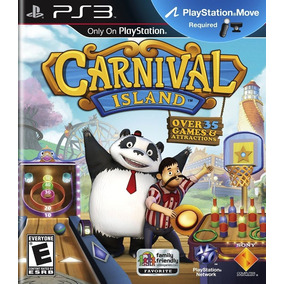Carnival Island Jogo Ps-move Ps3 Game Mídia Física Original