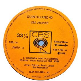 Quintiliano 40 Compacto 1978 L´immensa Verita