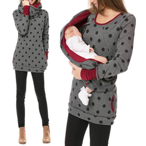Muppo Impreso Suéter De Lactancia Materna Embarazada