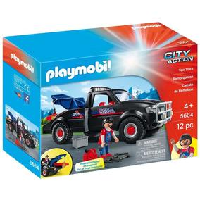Caminhão Guincho City Action C/12pçs Original Playmobil 5664