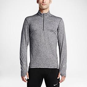 Camiseta Nike Dri Fit Element Manga Longa - Corrida Treino 15002045eea