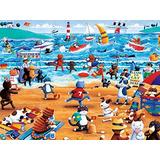 Rompecabezas De Gatos De La Playa De Ceaco Paws Y Claws