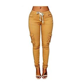 Pantalón Color Mostaza Para Mujer Marca Oluolin Talla S. 61704f2686ca