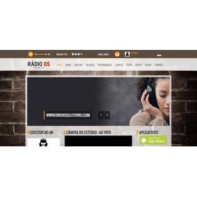 Rádio Bs - Site Web Rádio Responsivo Administrável