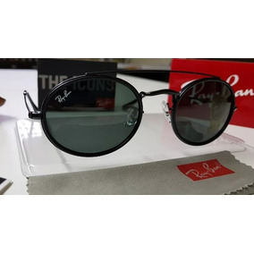 4718d9b724a9b Óculos De Sol Ray-ban Oval Double Bridge Rb3847 Preto