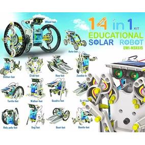 Kit Robô Solar 14 Em 1 P/ Montar - Novidade - Pronta Entrega