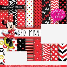bef61ae5eba Kit ´papel Digital Minnie Vermelha no Mercado Livre Brasil