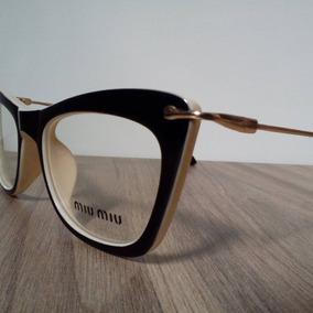 38175bc5eff69 Armação Para Óculos De Grau Miu Miu Tigrado Gatinho Cateye. Ceará · Armação  Para Grau Feminina Acetato Gatinho