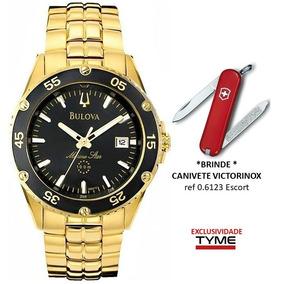 08b589cea6e Relogio Bulova Dourado Com Preto - Relógios De Pulso no Mercado ...