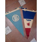 2 Banderin Antiguo 1970 Paño Rugby Club Casi Inusuales c889cb9930e