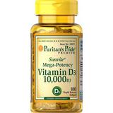 Vitamina D3 10000 Ui 100 Cap Softgels (importada) - Puritan
