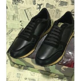 Valentino Sneaker Tennis Sapato Italiano De Couro Top