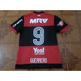 Camisa Flamengo Usada Jogo Sulamericana 9 Guerrero G d6d5838d97e76
