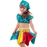 Vestido Fantasia Cigana Menina Infantil Festa Luxo 2 Ao 16