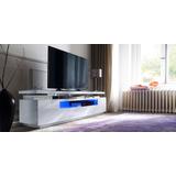 Mesa De Tv Diseño Ultra Moderno Con Iluminacion Ref: Jaspe