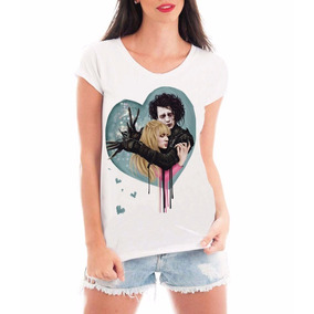 Camiseta Blusa Roupas Feminina Eduard Mãos De Tesoura Filme