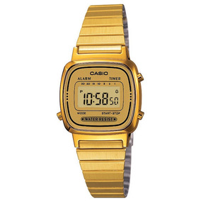 40e535dfd06 Relógio Casio Feminino Digital Vintage Dourado La670wga9df