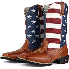 Bota Texana Country Masculina Texana Cano Longo Couro Legiti 977b36f1540