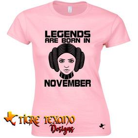 Playera Legends Leia Con Tu Mes By Tigre Texano Designs
