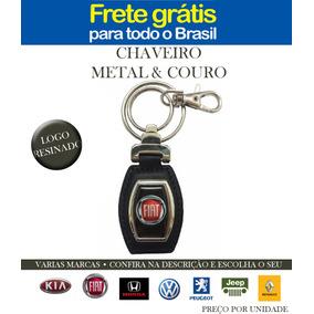 Chaveiro De Metal E Couro Marcas Carros Resina Frete Gratis