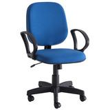 Cadeira De Escritório 801 Unimóvel Azul Gd
