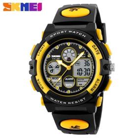 34f6b58f01b Relógio Masculino Skmei 1163 Original Meninos Pulso Promoção. R  84