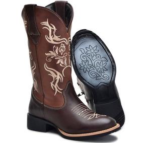 Bota Texana Feminina - Botas Texanas para Feminino Laranja escuro no ... ece80075899