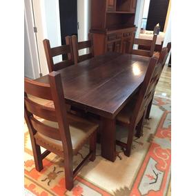 Mesa Com 6 Cadeiras - Madeira Maciça