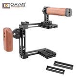 Camvate Rig Cámara Cage Ajustable Top Handle Canon Nikon