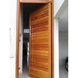 Porta Pivotante Madeira 214x120 Entrada Sala