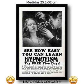 2bbccb2adb4f8 Cuadro Anuncio Hipnotismo Retro Canvas Tela Arte Vintage Pul