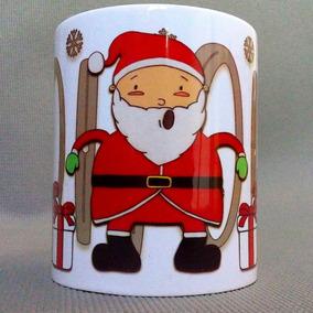 Taza Navideña Santa Claus Regalos Hohoho Feliz Navidad