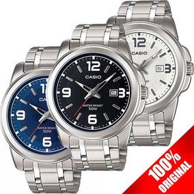 Reloj Casio Mtp1314 Acero Fechador Cristal Mineral