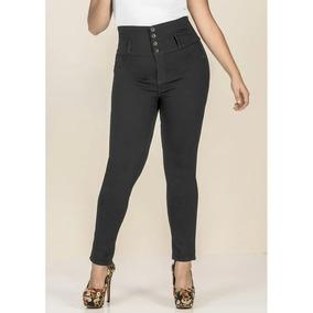 Pantalon Look Skinny Mujer Botones Metalicos Urban 1393637