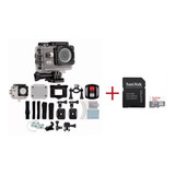 Combo Camara Moto Control Deportes 4k Wifi + Memoria 16 Gb