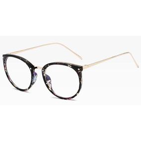 Armação De Luxo Redonda Para Óculos De Grau - Várias Cores 68fe51e723