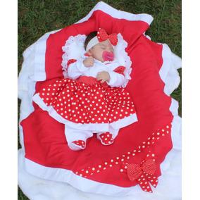 Saida De Maternidade Menina 5 Peças Charmosa Vermelha