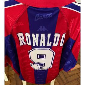 Camisa Futebol Retrô Kappa Oficial Barcelona 1997 Ronaldo 9 3436abf17f70b